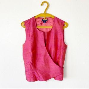 🦋3/$30 Y2K Silk Wrap Blouse